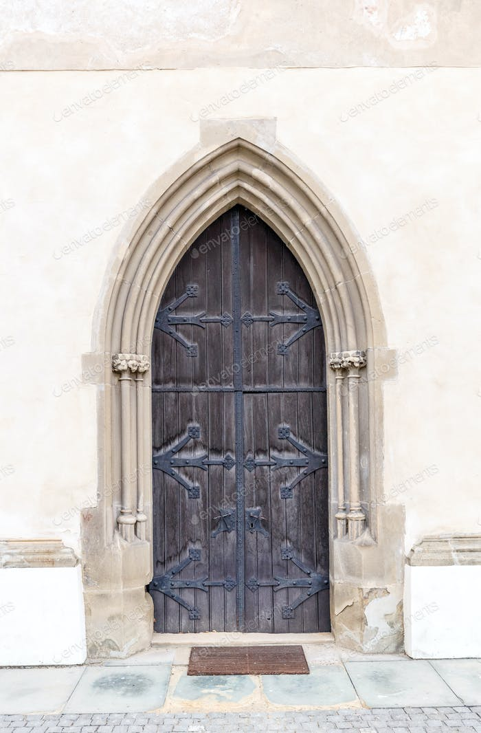 Old church or castle door