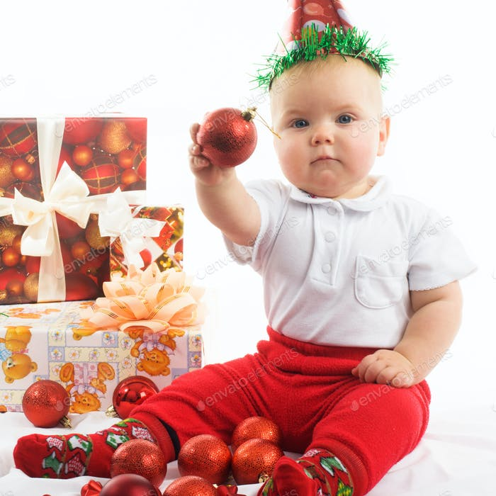 baby in christmas