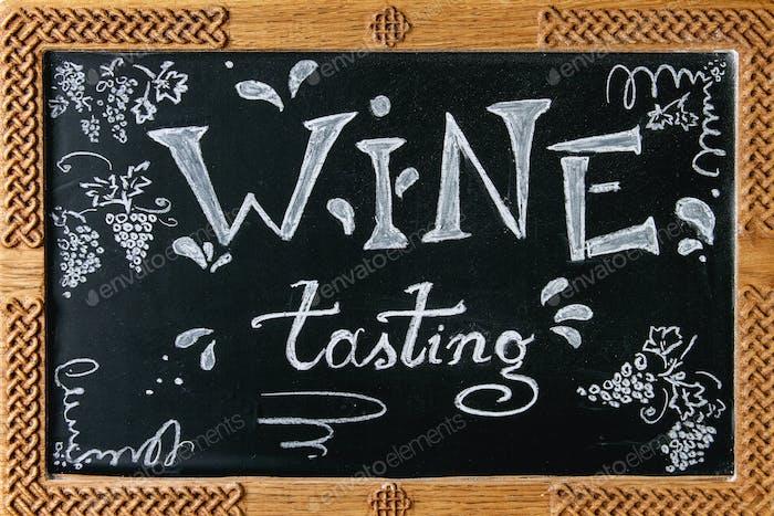 Wine tasting lettering