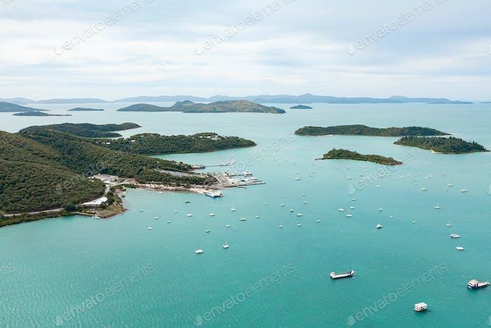 Tropical Island Aerial View