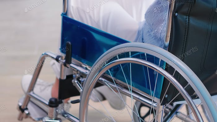 Disabled old woman