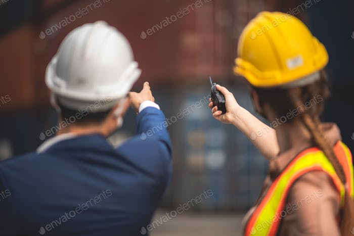 worker teamwork and partner of foreman, engineer, and businessman working