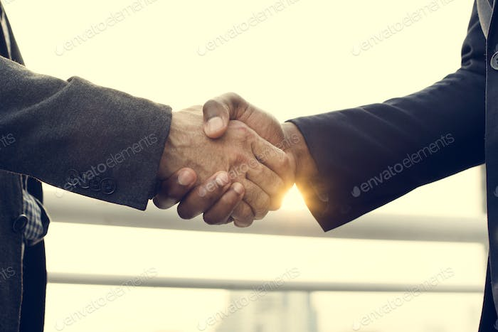 Business Handshake Collaboration Success Concept