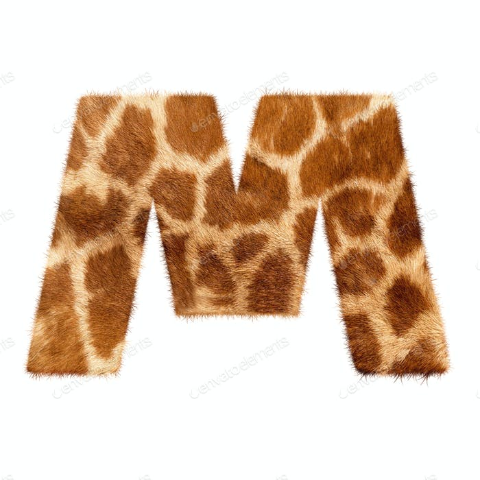 Letter from giraffe style fur alphabet.