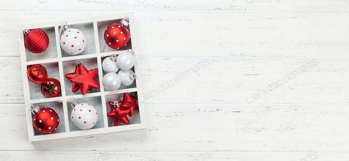 Christmas card with fir tree decor