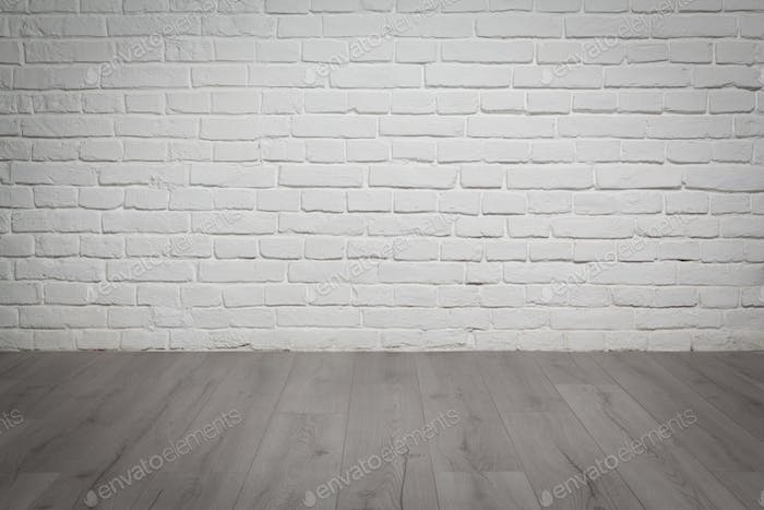 Old White Brick Wall And Wood Floor Background Photo By Stramyk On Envato Elements