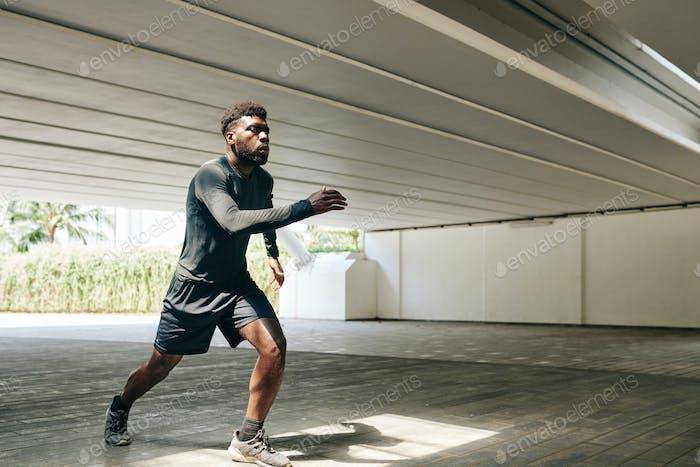 Training marathon participant
