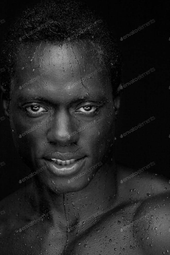 Close Up Portrait of a Handsome African American Man