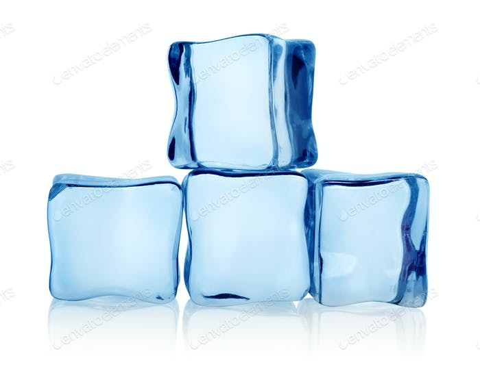 Big group ice cubes
