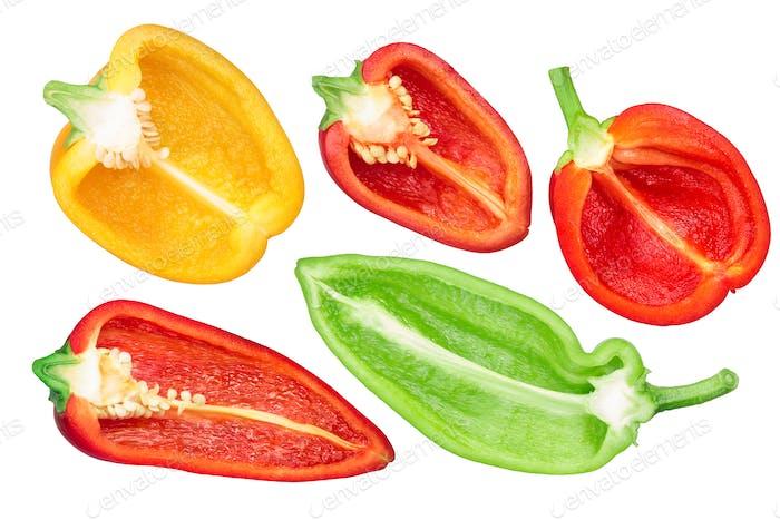 Paprika Hälften