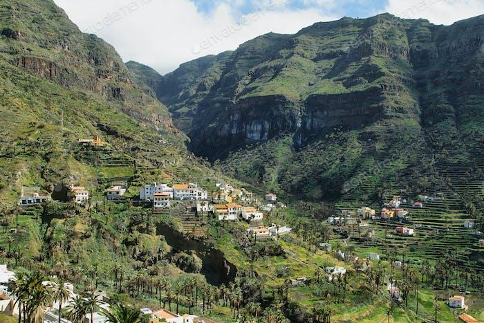 The Valle Gran Rey on the island La Gomera