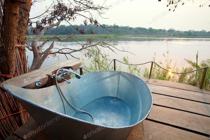 Bathroom in Africa