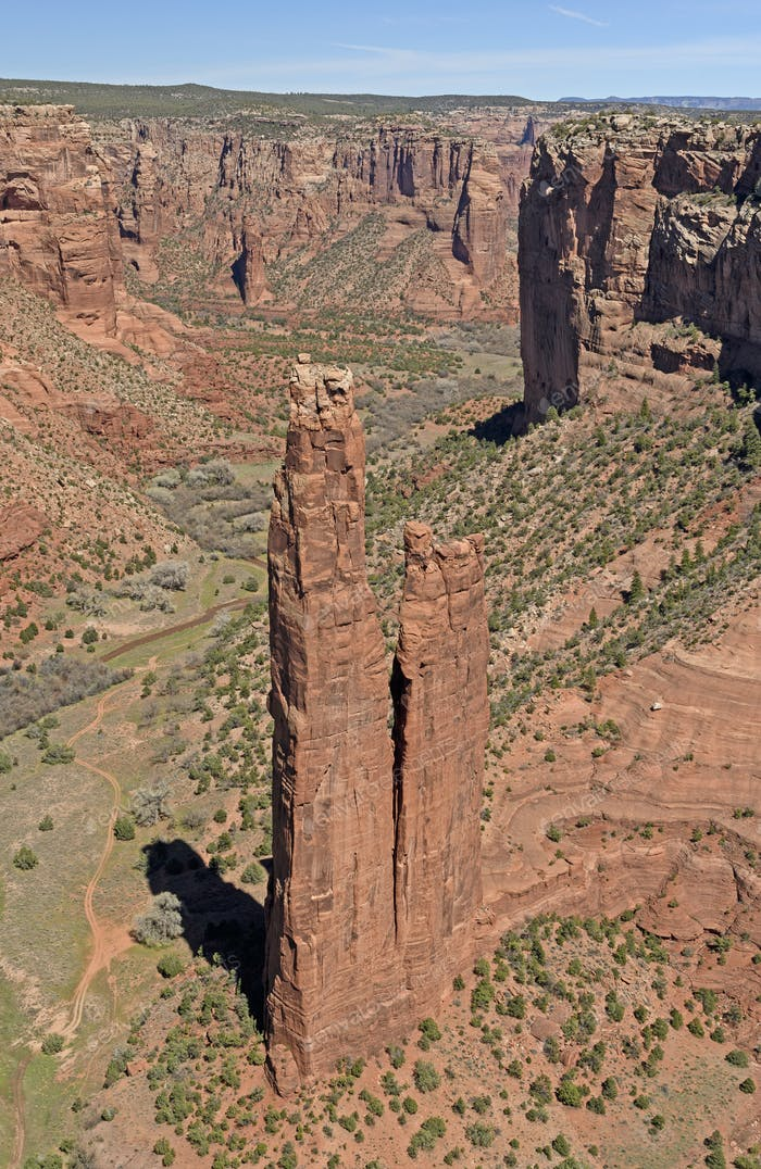 Spider Rock in the Desert