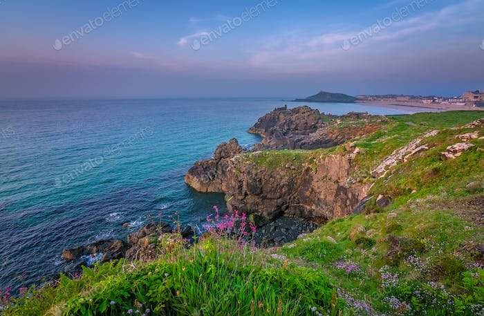 Stunningly beautiful Cornish sea coast