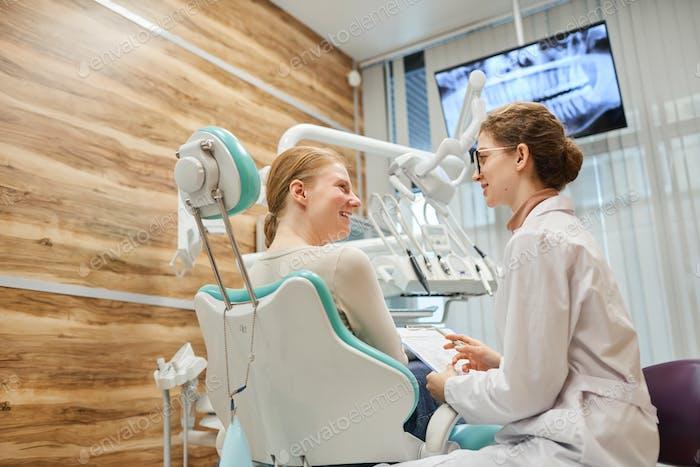 Consultation at dental clinic