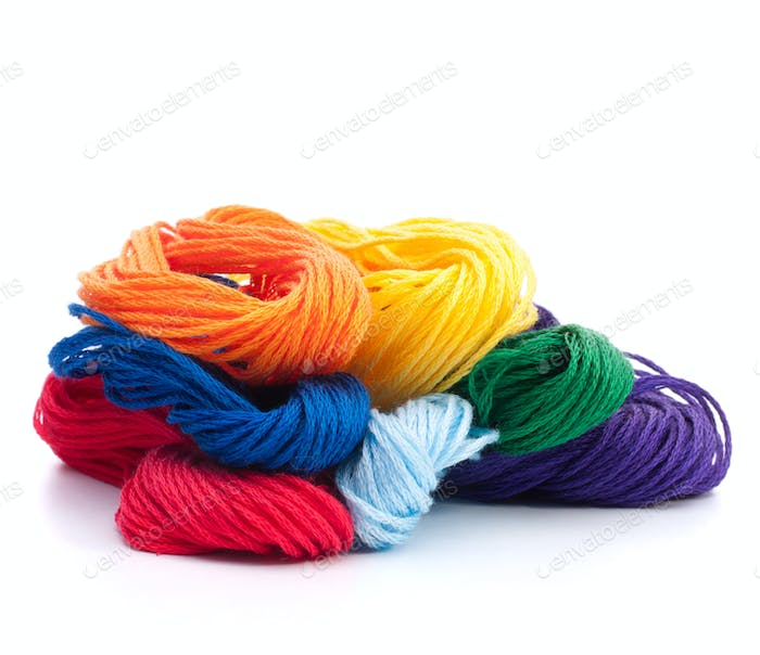 Color threads bunch