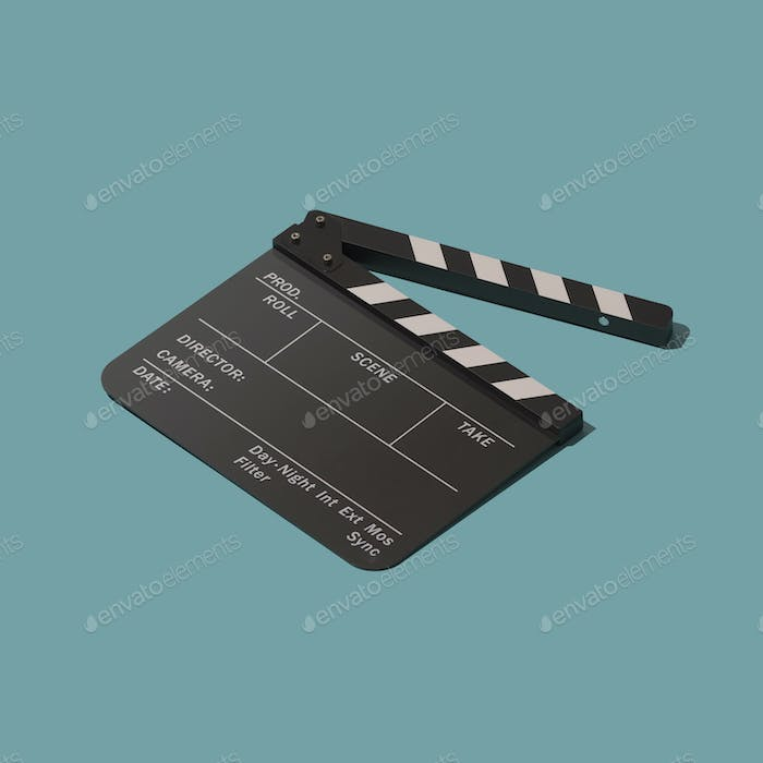 Clapperboard for cinema and filmmaking