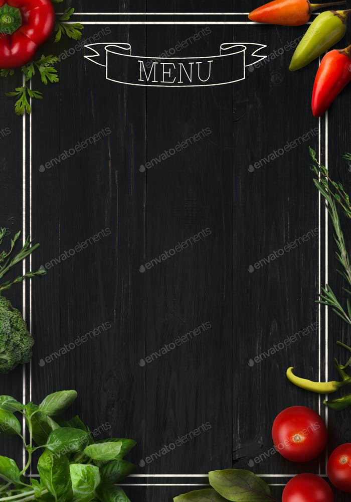 Black board as mockup for restaurant menu