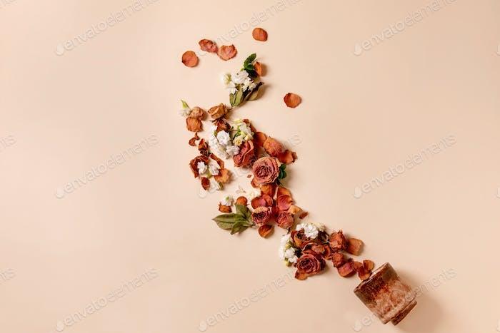 Diseño creativo con flores
