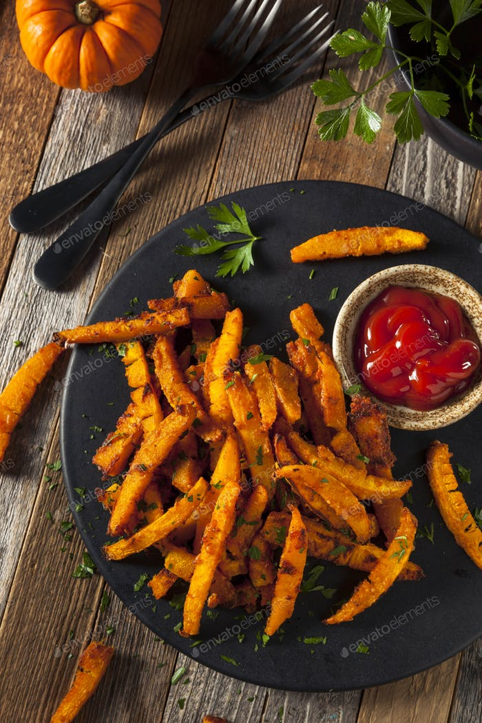 Homemade Organic Pumpkin French Fries