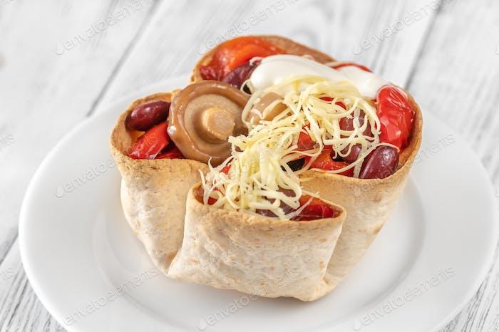 Crispy burrito basket