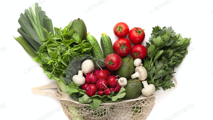 Fresh and healthy vegetables full of vitamins