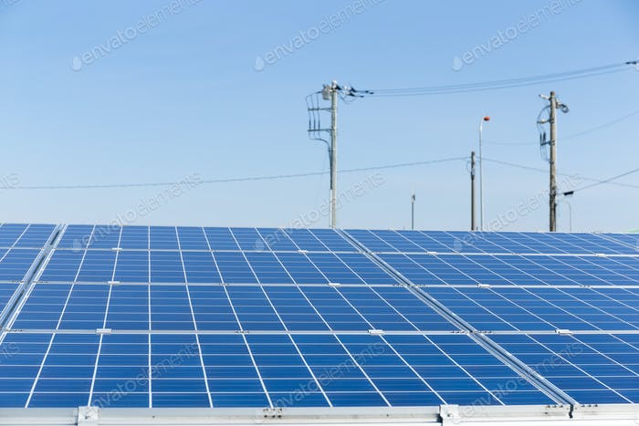 Thumbnail for Solar panel and power line