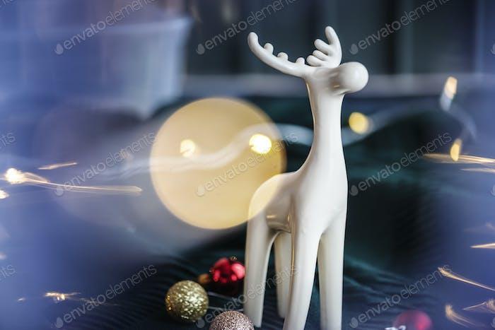 Minimal Christmas reindeer figurine