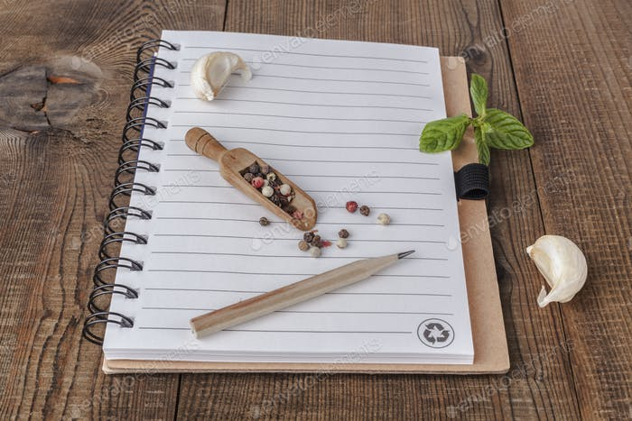 Notebook and Garlic