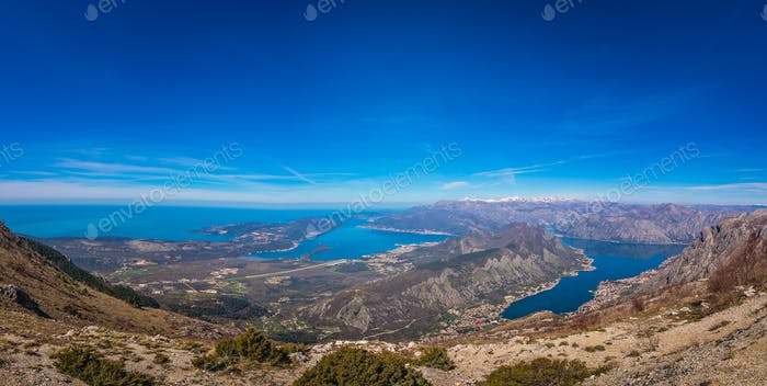 Stunning landscape of the Bay of Kotor