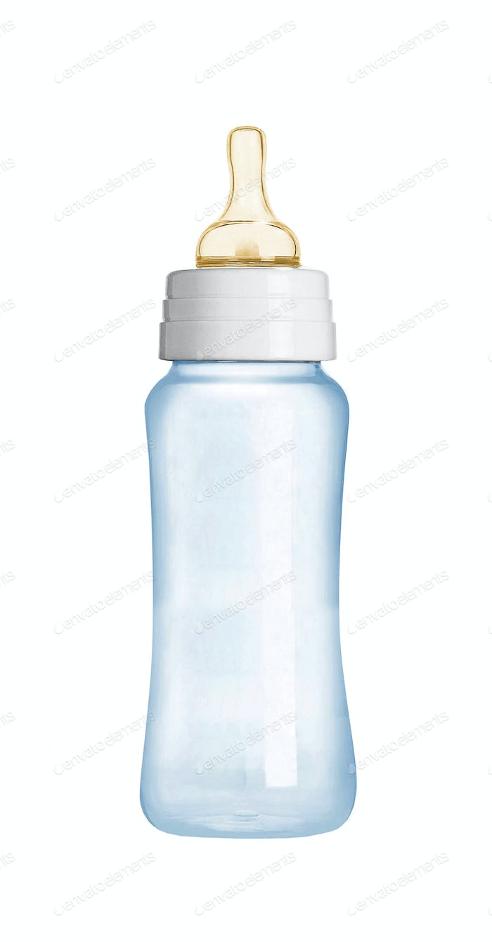 baby bottle isolated on white background