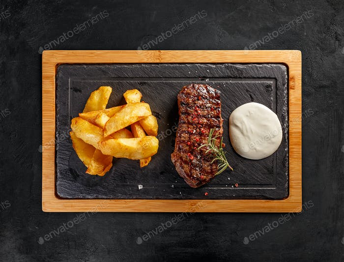 Matured Argentinian sirloin steak
