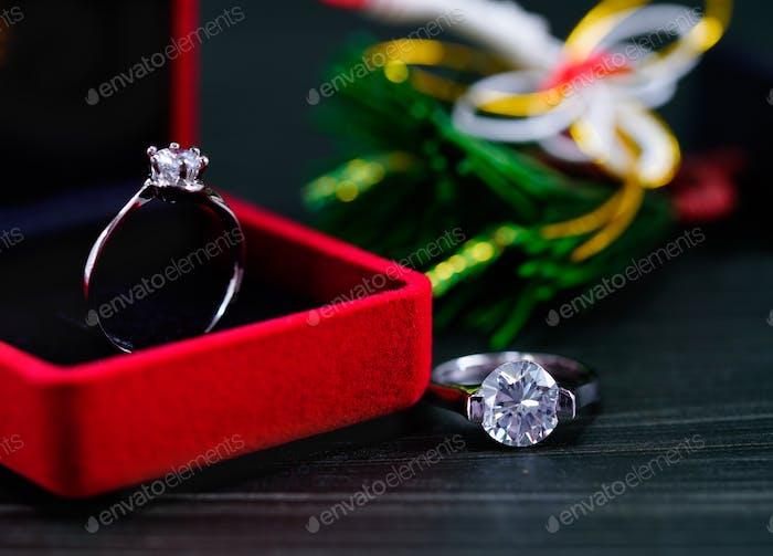 Diamond ring in red jewel box-6