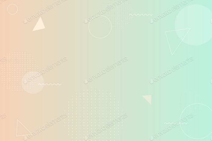 Beige and green gradient background with copy space illustration