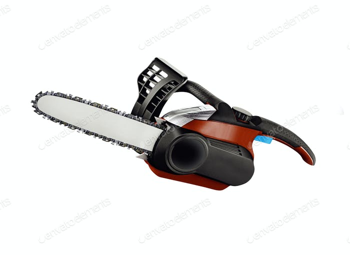 Chainsaw. isolated on white backgriund