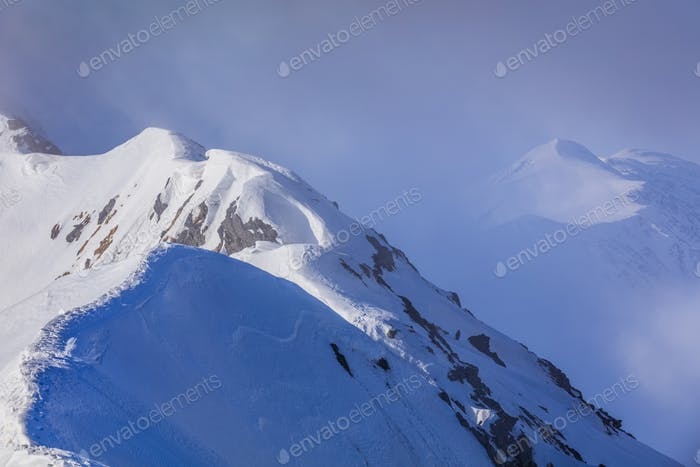 mountain landscape in winter