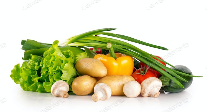 Fresh healthy raw vegetables