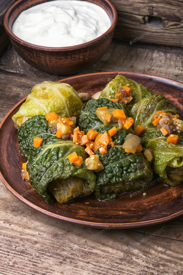 Cabbage rolls stuffed vegetable,