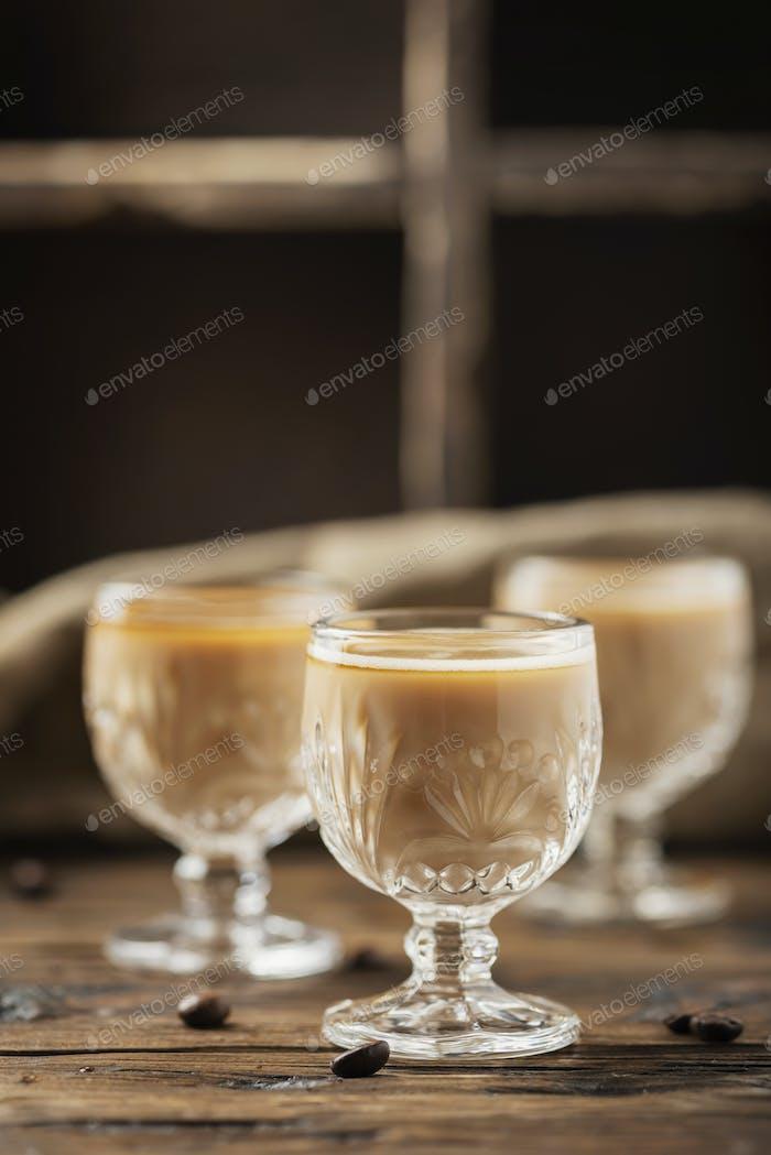 Strong coffee liqueur
