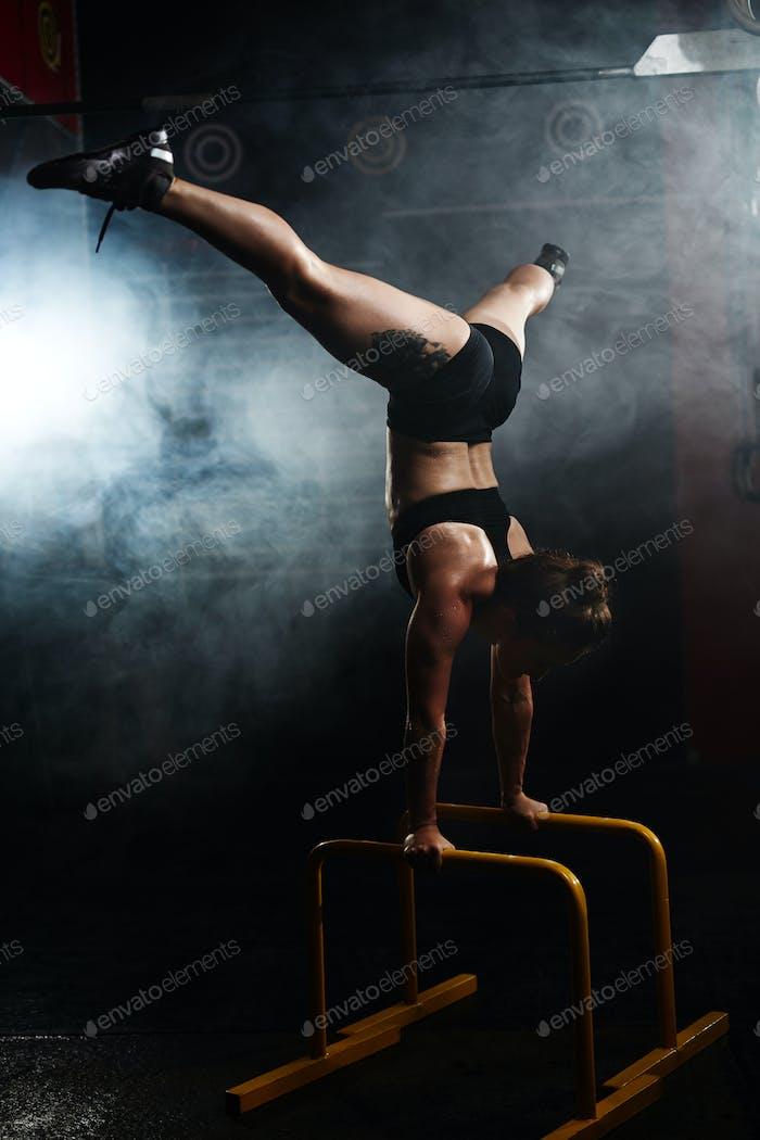 Keeping balance on bars