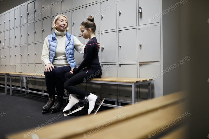 Mother Comforting Girl after Failure