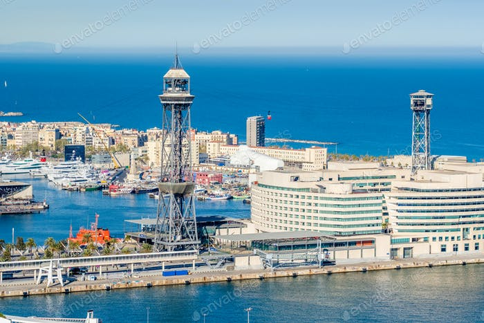 Port Vell overlook, Barcelona, Catalonia