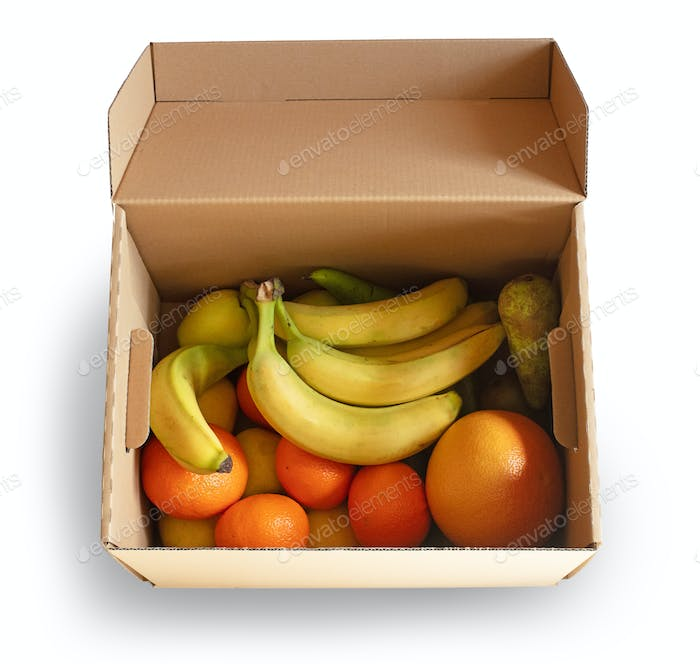 box of fresh fruits
