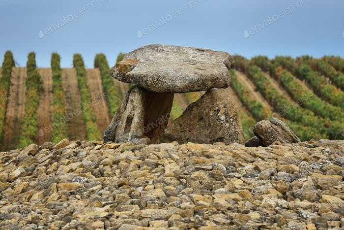 Dolmen named Shack of the Sorceress in Laguardia, Spain.