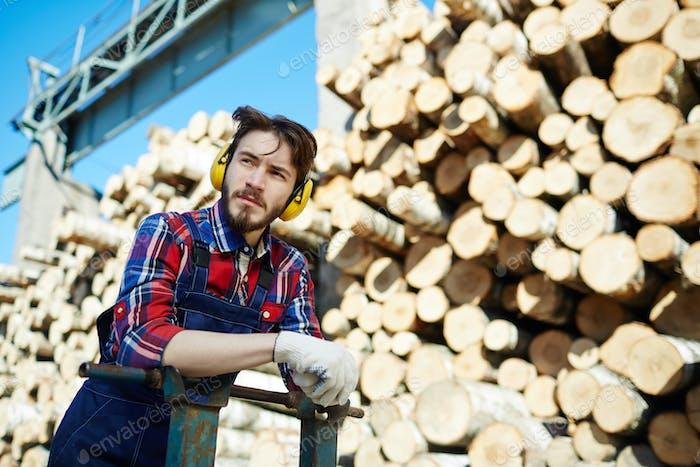 Lumber with cart