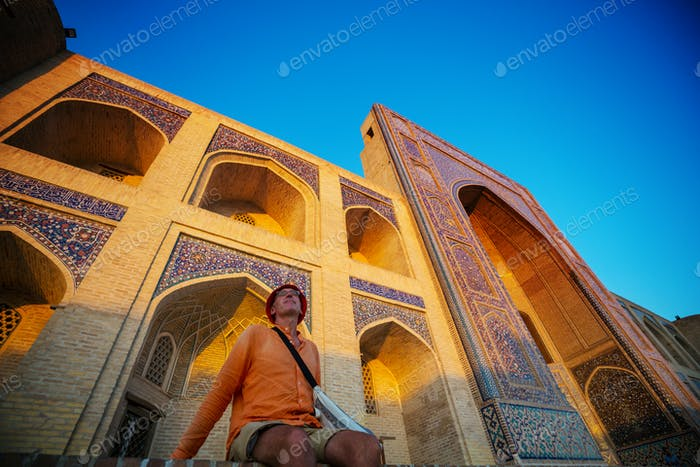 Tourist in Usbekistan