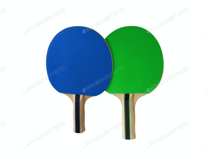 Pingpong racket isolated on white