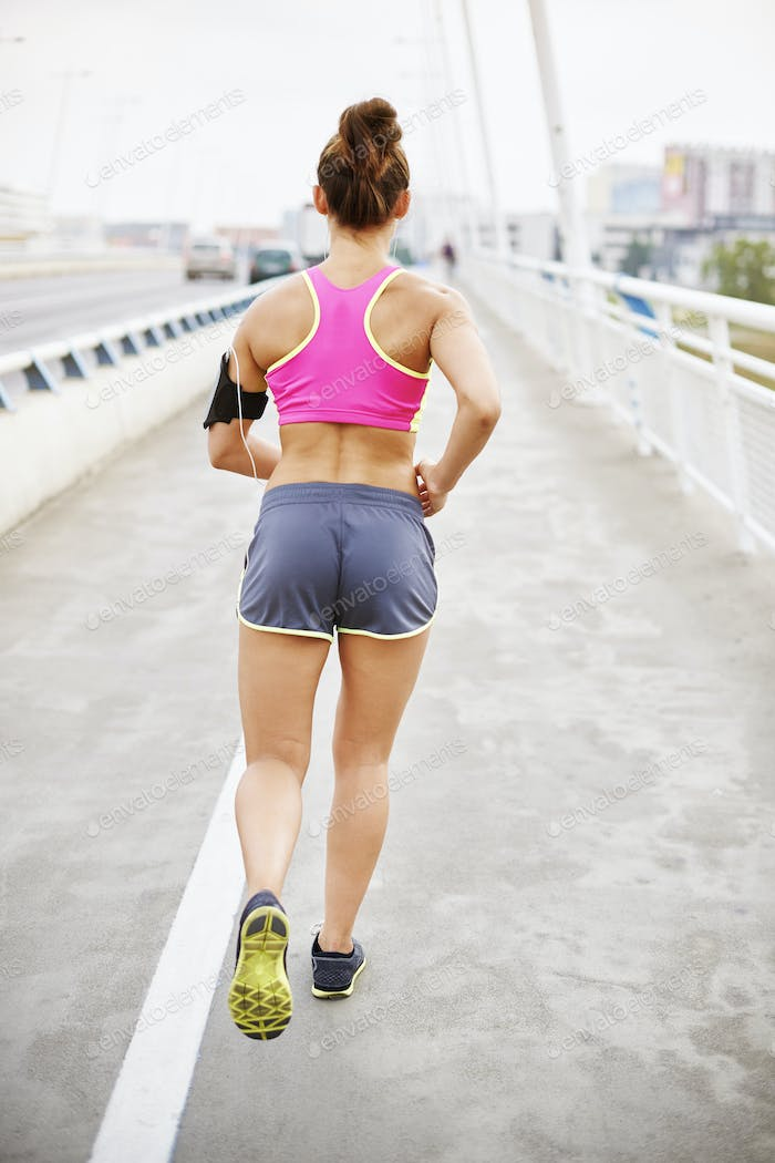 Woman jogging in the early morning