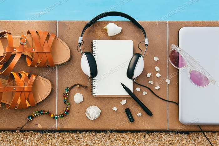woman's accessories flat lay still life