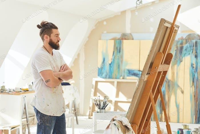 Contemporary Male Artist in Studio